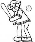 ours fait du baseball
