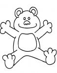 ours fait un calin