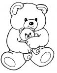 ourse qui tient son petit
