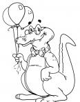 papa crocodile avec des balons
