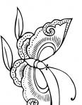 papillon avec de grandes antennes