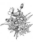 papillon sur un bouquet de fleurs
