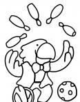 perroquet qui jongle