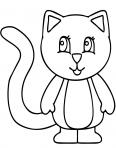 petit chaton debout