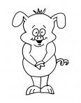 petit cochon debout