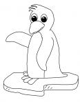 petit pingouin sur un bloque de glace