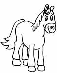 petite peluche en forme de cheval