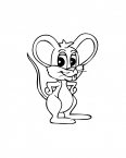 petite souris avec de grandes oreilles