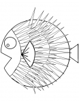 poisson balon tout gonflé