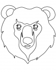 tête d'ours furieux