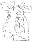 tête de girafe qui sourie