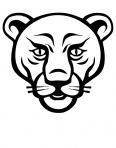 tête de lion prédateur