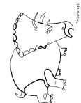 triceratops qui court