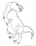 tyrannosaure rex énervé