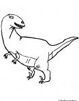 tyrannosaure rex tourne la tête