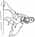 un dauphin et une sirène