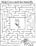 un dinosaure dans un labyrinthe