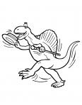 un dinosaure qui dance